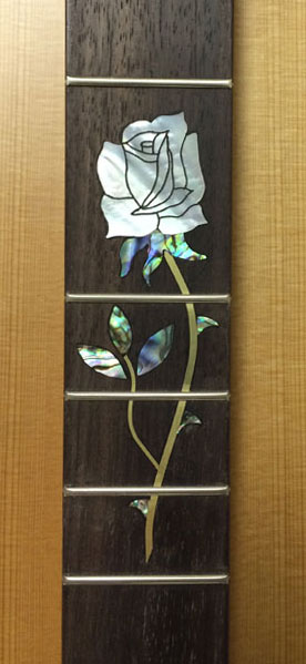 single rose inlay